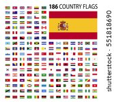 world country flags icon vector ... | Shutterstock .eps vector #551818690
