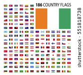 world country flags icon vector ... | Shutterstock .eps vector #551818738