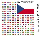 world country flags icon vector ... | Shutterstock .eps vector #551818768