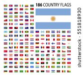 world country flags icon vector ... | Shutterstock .eps vector #551818930