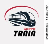 speed train logo template ... | Shutterstock .eps vector #551818954