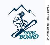 snowboarding stylized symbol ... | Shutterstock .eps vector #551818963