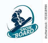 snowboarding stylized symbol ... | Shutterstock .eps vector #551818984