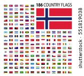 world country flags icon vector ... | Shutterstock .eps vector #551819038
