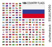 world country flags icon vector ... | Shutterstock .eps vector #551819050