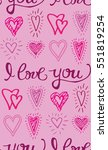 valentine's day pattern with... | Shutterstock .eps vector #551819254