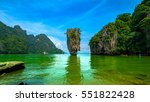james bond island in phang nga... | Shutterstock . vector #551822428