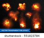 fire bursts and explosions ... | Shutterstock .eps vector #551823784
