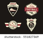 american football badge with... | Shutterstock . vector #551827369