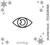 web line icon. eye | Shutterstock .eps vector #551828488