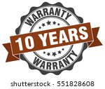 10 years warranty. stamp.... | Shutterstock .eps vector #551828608