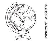 hand drawn school globe. model ... | Shutterstock .eps vector #551830570