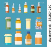 set of medicine bottles with... | Shutterstock .eps vector #551834260