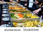 cuisine culinary buffet dinner... | Shutterstock . vector #551835340