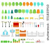 city and park map vector... | Shutterstock .eps vector #551835910