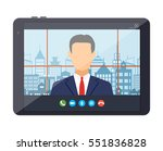 tablet pc with internet... | Shutterstock .eps vector #551836828