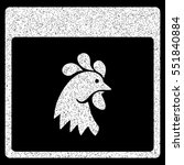 Rooster Head Calendar Page...