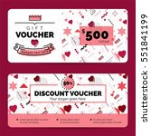 gift voucher coupon discount... | Shutterstock .eps vector #551841199