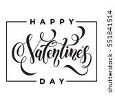 saint valentine vector heart... | Shutterstock .eps vector #551841514