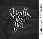 i really like you. love letter  ... | Shutterstock . vector #551842360