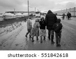 29 january 2014. syria. refugee ... | Shutterstock . vector #551842618