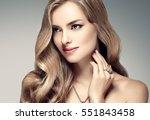 amazing woman portrait.... | Shutterstock . vector #551843458