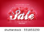 valentines day sale background... | Shutterstock .eps vector #551853250