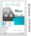 blue business brochure design.... | Shutterstock .eps vector #551855158