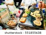 generic hamburger vendors... | Shutterstock . vector #551855638