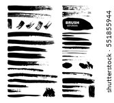 ink brush strokes set isolated... | Shutterstock .eps vector #551855944