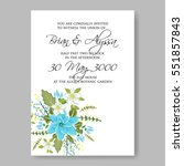 romantic wedding invitation... | Shutterstock .eps vector #551857843