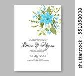 romantic wedding invitation... | Shutterstock .eps vector #551858038