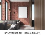 front view of a cafe interior... | Shutterstock . vector #551858194
