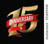 15 years anniversary golden... | Shutterstock .eps vector #551859448