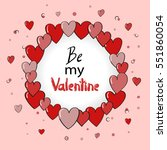 valentines day card design with ... | Shutterstock .eps vector #551860054