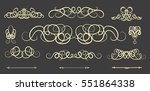 vintage decor elements and... | Shutterstock . vector #551864338