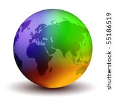 Multicolor Vector Earth Globe