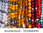 traditional colorful rosaries | Shutterstock . vector #551866444
