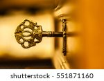 macro shot of an antique and... | Shutterstock . vector #551871160
