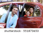 happy family with kids sitting... | Shutterstock . vector #551873653
