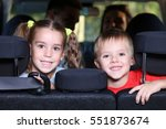 children with their parents in... | Shutterstock . vector #551873674