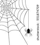 spider web stock vector... | Shutterstock .eps vector #551874709