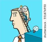 exchanging ideas in brain  ... | Shutterstock .eps vector #551876950