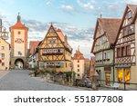 rothenburg ob der tauber... | Shutterstock . vector #551877808