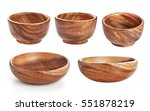 empty wooden bowl isolated on... | Shutterstock . vector #551878219