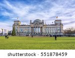 view of famous reichstag...   Shutterstock . vector #551878459
