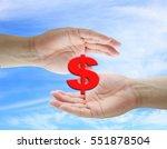asian business man holding... | Shutterstock . vector #551878504
