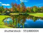park of fantastic beauty. golf ... | Shutterstock . vector #551880004