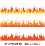 Fire Flame Background. Set Of...