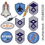 mega set of retro emblems ... | Shutterstock .eps vector #551885230